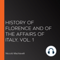 History of Florence and of the Affairs of Italy, Vol. 1