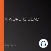 A Word Is Dead