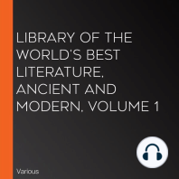 Library of the World's Best Literature, Ancient and Modern, volume 1