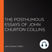 The Posthumous Essays of John Churton Collins