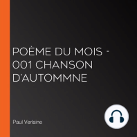 Poème du Mois - 001 Chanson d'autommne