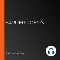Earlier Poems
