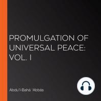 Promulgation of Universal Peace