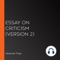 Essay on Criticism (version 2)
