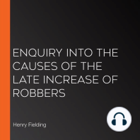 Enquiry Into The Causes Of The Late Increase Of Robbers