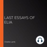Last Essays of Elia