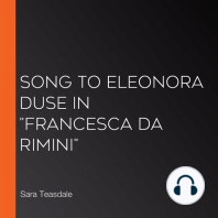 "Song To Eleonora Duse In ""Francesca da Rimini"""