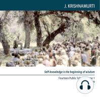 Why Do We Seek a Method Or Technique?: Ojai 1949 - Public Talk 12