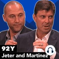 Derek Jeter and Tino Martinez with Brandon Steiner