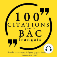 100 citations pour le bac français