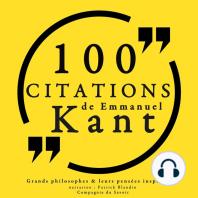 100 citations d'Emmanuel Kant