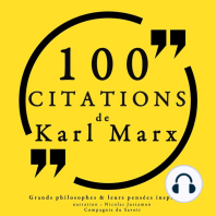 100 citations de Karl Marx