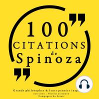 100 citations de Spinoza