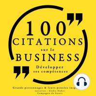 100 citations sur le business