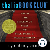 From the Mixed-Up Files of Mrs. Basil E. Frankweiler 50th Anniversary