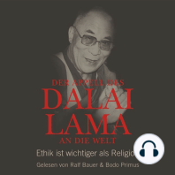 Der Appell des Dalai Lama an die Welt - Ethik ist wichtiger als Religion (Ungekürzte Lesung)