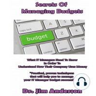 Secrets of Managing Budgets