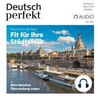 Deutsch lernen Audio - Fit für Ihre Städtetour
