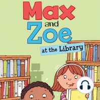 Max and Zoe at the Library