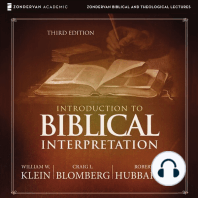 Introduction to Biblical Interpretation: Audio Lectures: A Complete Course for the Beginner