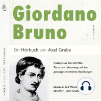 Giordano Bruno. Eine biografische Anthologie.