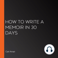 How to Write a Memoir in 30 Days