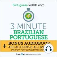 3-Minute Brazilian Portuguese: Everyday Portuguese for Beginners