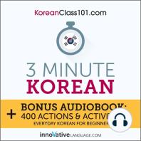 3-Minute Korean: Everyday Korean for Beginners