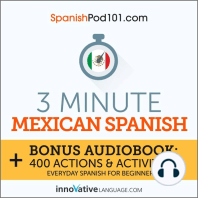 3-Minute Mexican Spanish