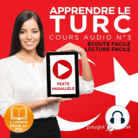 Apprendre le Turc - Écoute Facile - Lecture Facile - Texte Parallèle Cours Audio No. 3 [Learn Turkish - Audio Course 3]