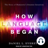 How Language Began