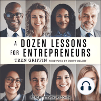 A Dozen Lessons for Entrepreneurs