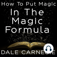 How To Put Magic In The Magic Formula