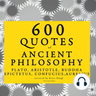 600 Quotes of Ancient Philosophy