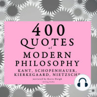400 Quotes of Modern Philosophy