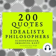 200 Quotes of Idealist Philosophers