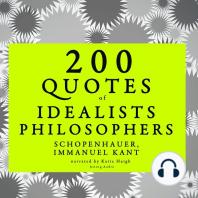 200 Quotes of Idealist Philosophers