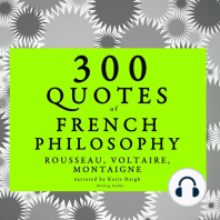 300 Quotes of French Philosophy