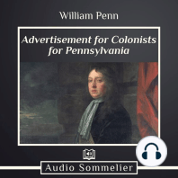 Advertisement for Colonists for Pennsylvania