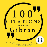100 citations de Khalil Gibran