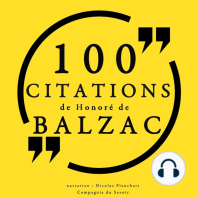 100 citations d'Honoré de Balzac