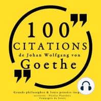 100 citations de Goethe