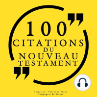 100 citations du Nouveau Testament
