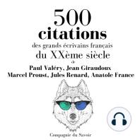 500 citations des grands écrivains français du XXème siècle