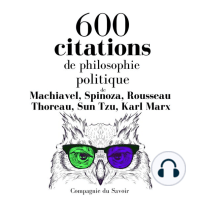 600 citations de philosophie politique