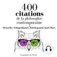 400 citations de la philosophie contemporaine