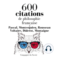 600 citations de philosophie française