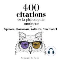 400 citations de la philosophie moderne