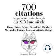 700 citations des grands écrivains français du XIXème siècle