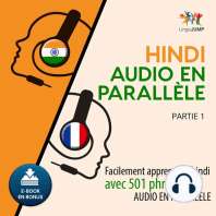 Hindi audio en parallèle - Facilement apprendre l'hindi avec 501 phrases en audio en parallèle - Partie 1